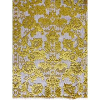 Vintage Schumacher Gold Cut Velvet Fabric Sample For Sale