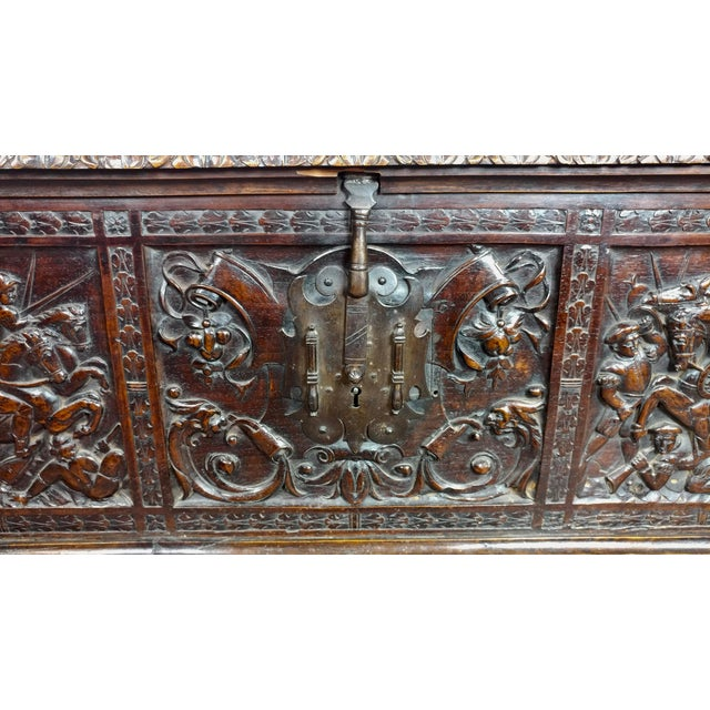 18th Century Highly Carved Italian Renaissance Cassone For Sale - Image 9 of 11