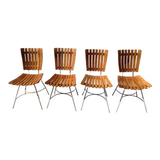 1950s Vintage Arthur Umanoff Dining Chairs- Set of 4 For Sale