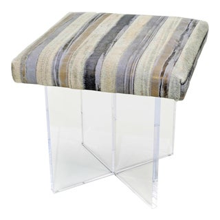 Kiss Striped Thino Ottoman For Sale