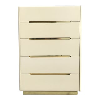 Postmodern Lane 5~Drawer Highboy Dresser For Sale