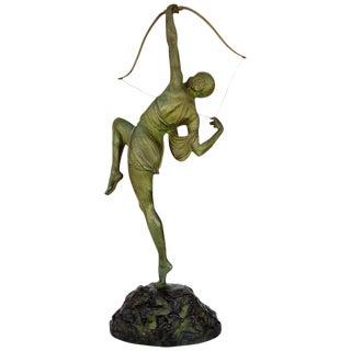 """""""Tireuse A L'arc"""" Bronze Greek Archer by Pierre Le Faguays For Sale"""