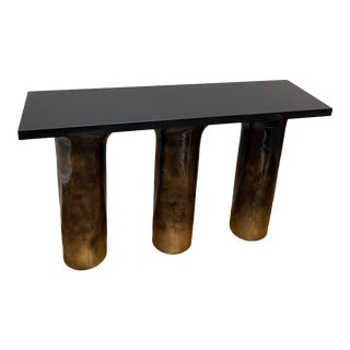 Contemporary Ombré Lacquered Pillar Console For Sale