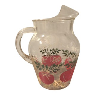 Vintage Mid-Century Glass Tomato Pitcher For Sale
