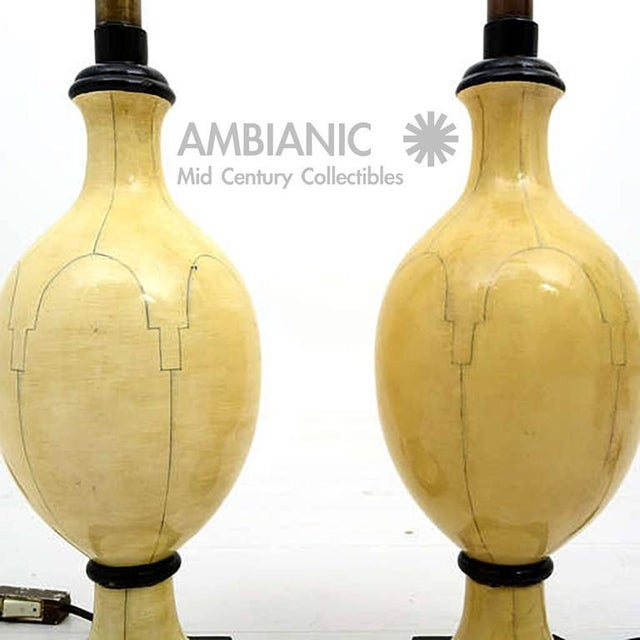 Pair of Christian Fersen Table Lamps For Sale - Image 4 of 8