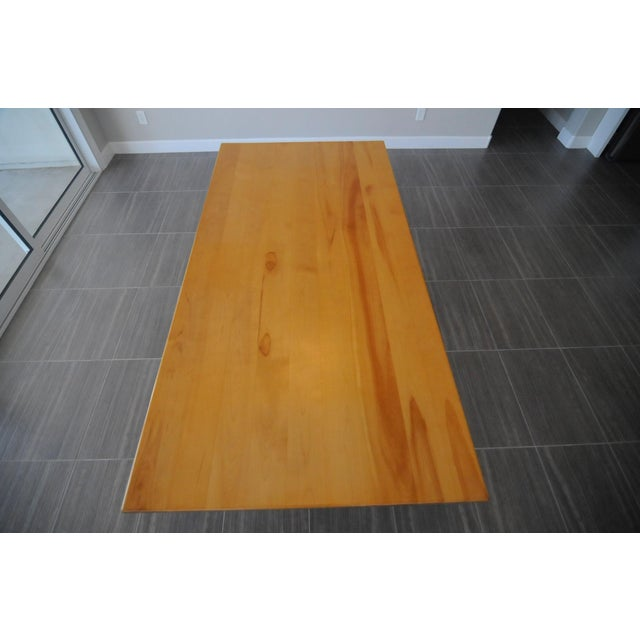 Solid Beech Trestle Table - Image 3 of 9