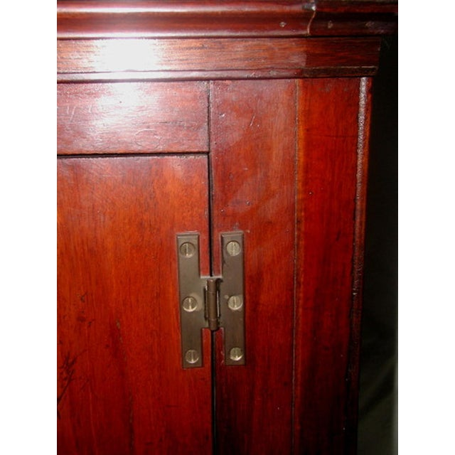 Hand Made C.1875 English Corner Mahogany Cabinet For Sale - Image 4 of 7