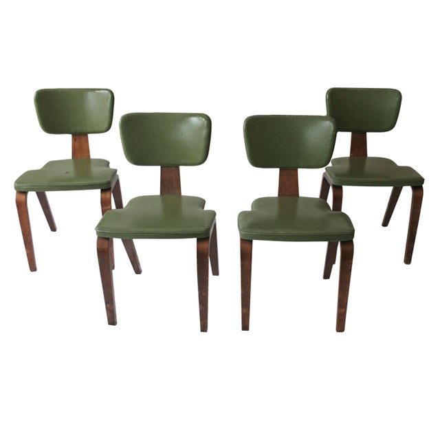 Vintage Thonet Bentwood Chairs - Set of 4 For Sale