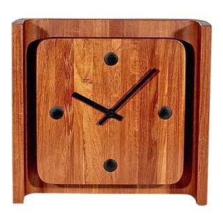 1970s Danish Teak Clock