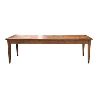 19th Century Country French Cherry Wood Farm Table For Sale