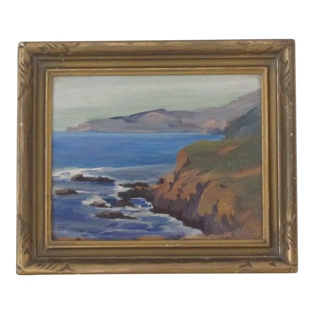 California Coastal Landscape Oil Painting - Image 1 of 3
