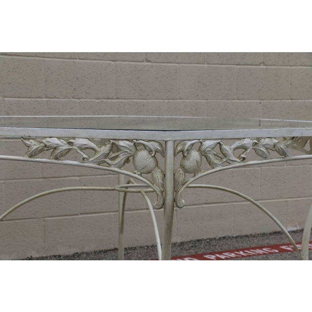 Metal Fruit Accent Patio Set - Set of 5 For Sale In Los Angeles - Image 6 of 13