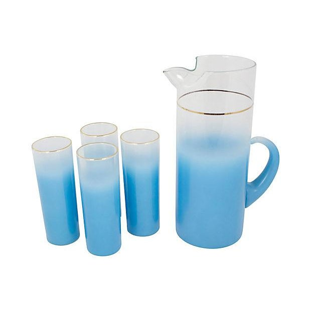 Mid-Century Modern Mid-Century Pitcher With Glasses - Set of 5 For Sale - Image 3 of 4