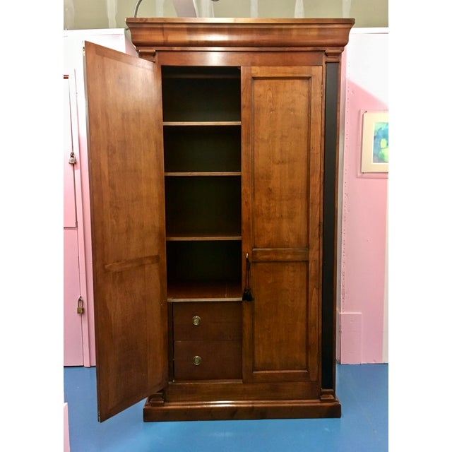 Cherry Wood Italian Cherry Wood Armoire For Sale - Image 7 of 8