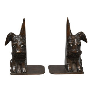 Black Forest Style Scottie Dog Bookends - A Pair