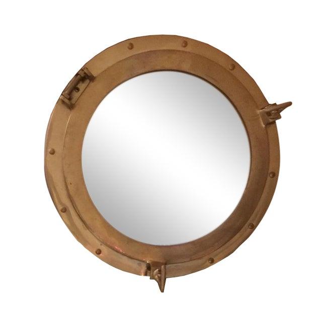 Nautical Brass Porthole Mirror - Image 1 of 8