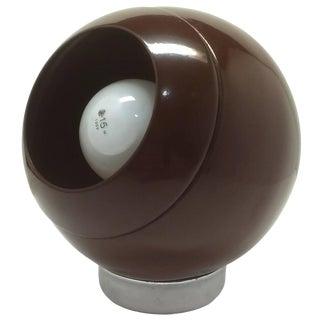 Brown Metal Eyeball Lamp For Sale