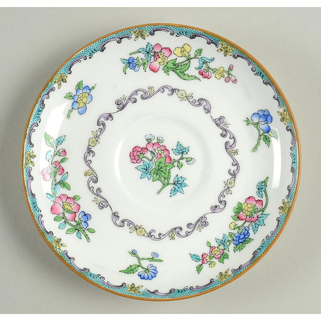 Minton Double Handled Footed Bowl and Saucer - Set of 6 For Sale - Image 11 of 13
