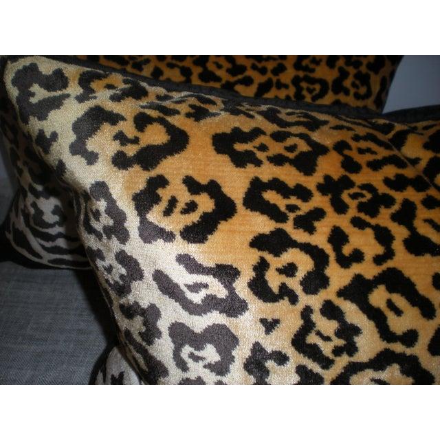 Bespoke Scalamandre Silk Leopardo & Mohair Pillows - Image 4 of 6