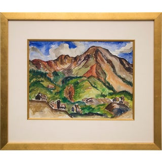 """Mountain Mine, Colorado"" Original Painting by Tabor Utley For Sale"