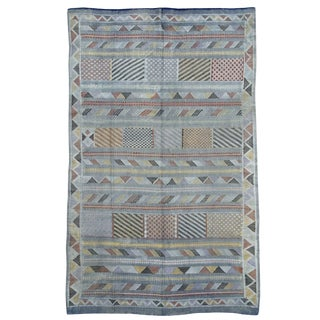 1970s Vintage Moroccan Kilim Rug-6′3″ × 9′9″ For Sale