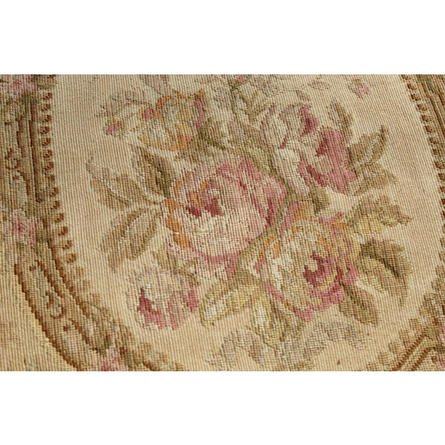 19 C. Large French Aubusson Pillow For Sale - Image 4 of 7