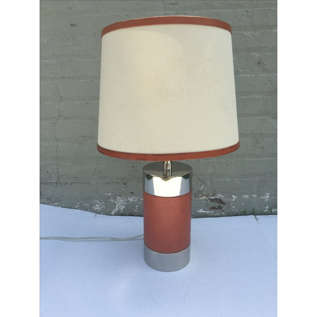 Ralph Lauren Home Chrome & Leather Accent Lamp - Image 2 of 7
