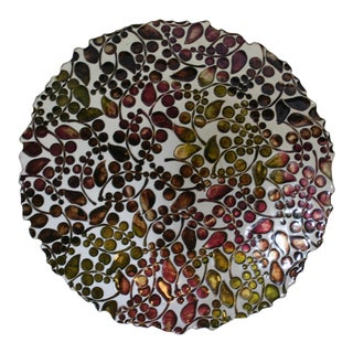 Modern Hand Blown Large Art Glass Decorative Bowl For Sale
