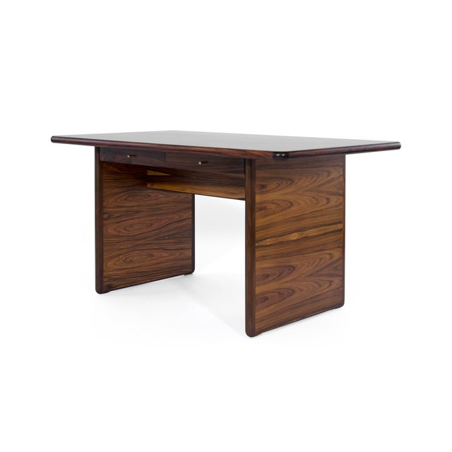 Mid 20th Century Danish Modern Rosewood Desk For Sale - Image 5 of 10
