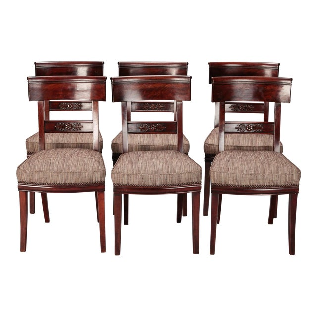 French First Empire Dining Chairs - Set of 6 For Sale