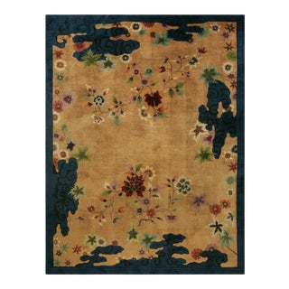"""Antique Chinese Art Deco Rug 9'0"""" X 11'6"""" For Sale"""