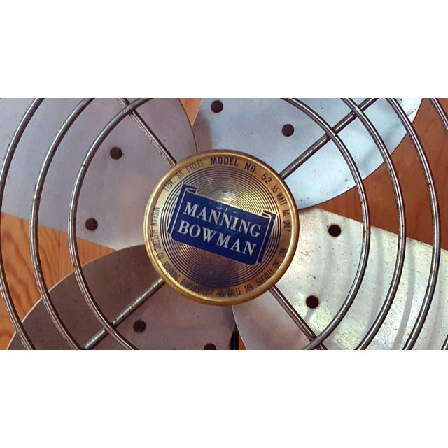 Manning Bowman & Co. Vintage Manning Bowman Industrial Fan For Sale - Image 4 of 8