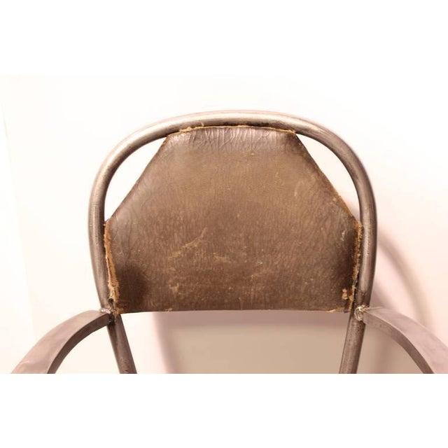 1930's Industrial Metal Desk Chair - Image 3 of 4