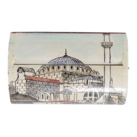 Turkish Hand-Painted Bone Box - Image 2 of 4