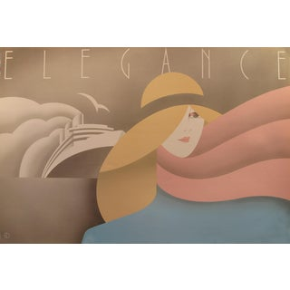 1980s Original Canadian Poster - Elegance by Theo Dimson For Sale