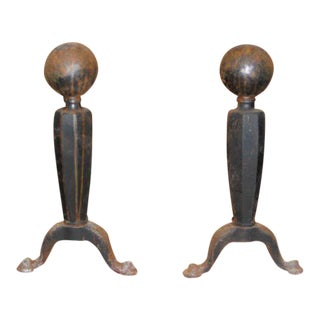 Pair of Large Andirons