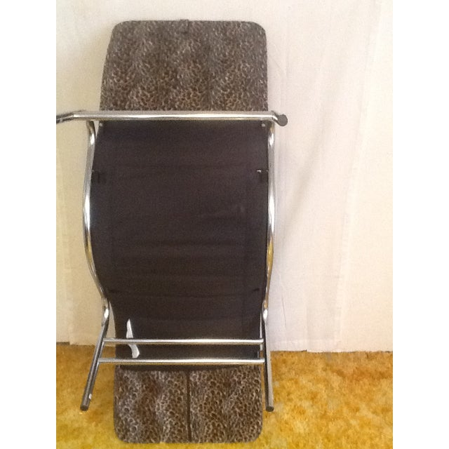 Leopard Upholstered Wave/Chaise Lounge For Sale - Image 4 of 8