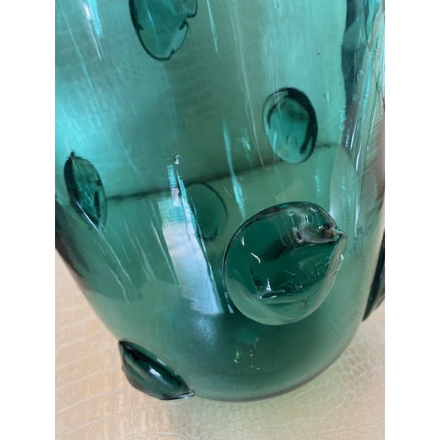Mid-Century Murano Green Glass Vase For Sale - Image 11 of 13