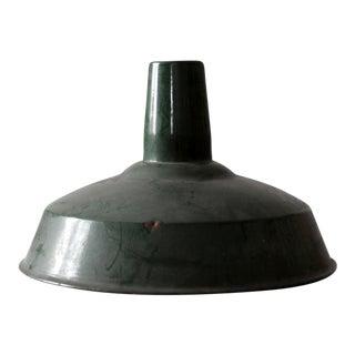 Industrial Green Enamel Pendant Lamp Shade