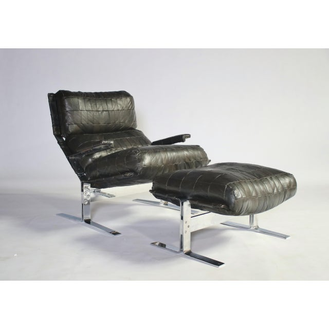Richard Hersberger for Saporiti Lounge Chair and Ottoman For Sale - Image 12 of 12