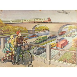 1953 School Poster Transportation For Sale