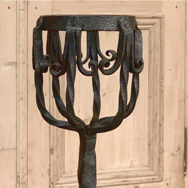 18th Century Grand Wrought Iron Andirons For Sale - Image 9 of 13