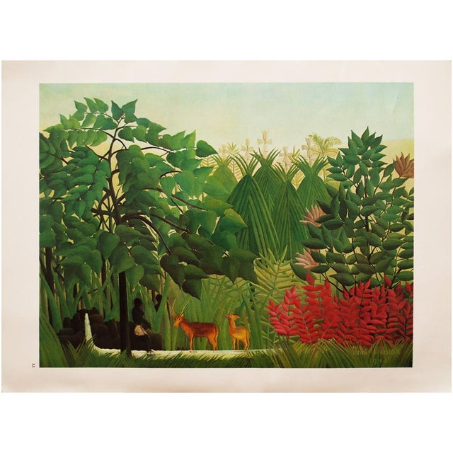 """1966 Henri Rousseau, """"The Waterfall"""" Photogravure From Milan For Sale - Image 9 of 11"""