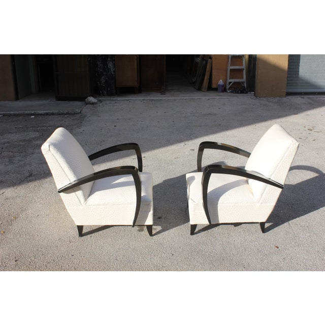 French Art Decor Club Chairs - A Pair - Image 3 of 10