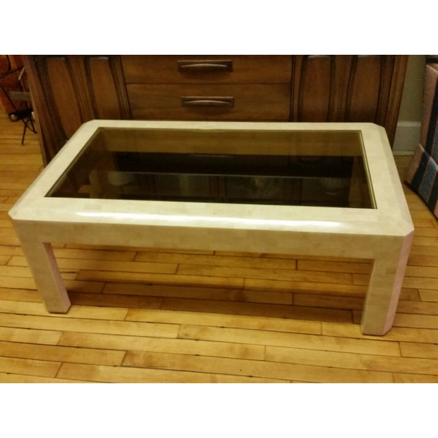 Contemporary Maitland-Smith Tessellated Stone Coffee Table For Sale - Image 3 of 10