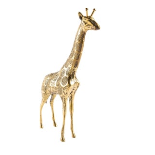Vintage Solid Brass Giraffe For Sale