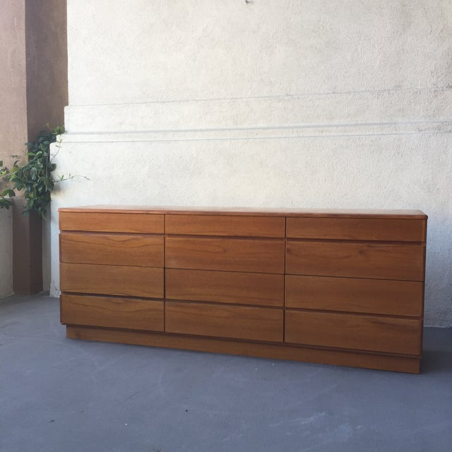 Danish 12-Drawer Teak Minimalist Dresser - Image 7 of 7