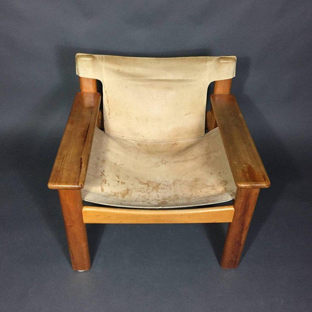 "Mid-Century Modern Karin Mobring ""Natura"" Leather Armchair, Sweden, 1970s For Sale - Image 3 of 10"