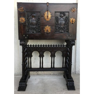 18th Century Spanish Baroque Style Cabinet on Stand, Bargueno or Varqueno Preview