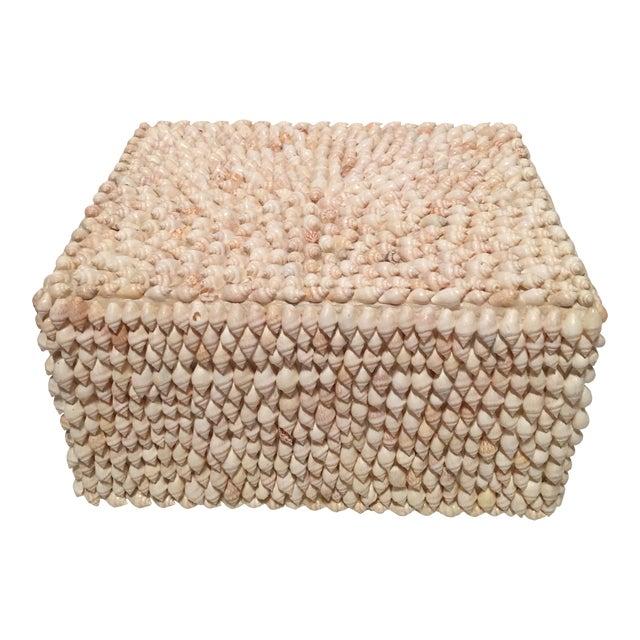 Vintage Sea Shell Trinket Box, Phillipines For Sale